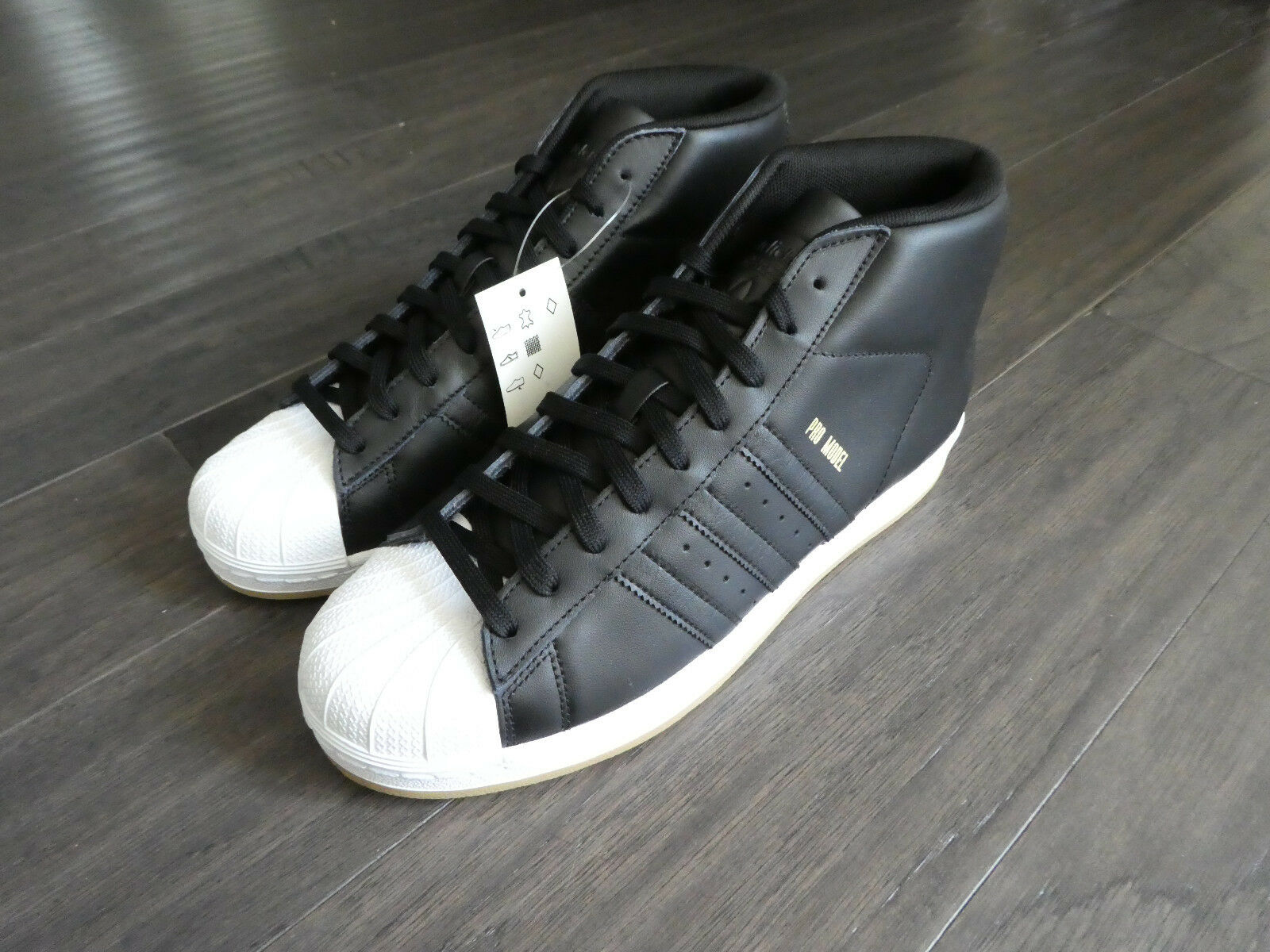 Adidas Pro Model Shelltoe shoes men's new CQ7 black gum sneakers