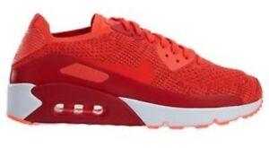 Detalles de Nike Air Max 90 Ultra 2.0 Flyknit Zapatillas UK 10.5 875943 600 Bright Crimson BNI ver título original