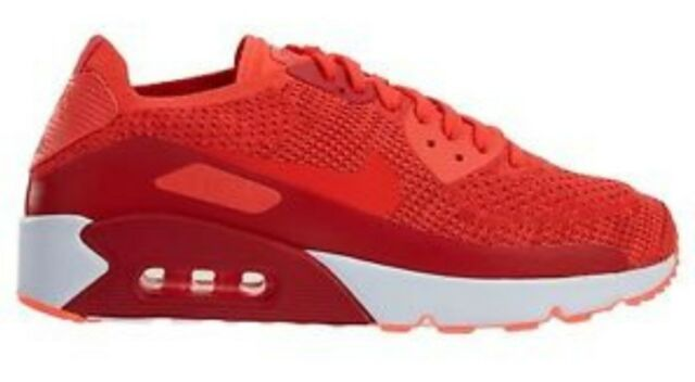 ebe0a197b24d Nike Air Max 90 Ultra 2.0 Flyknit Trainers UK 10.5 875943 600 Bright  Crimson Bni
