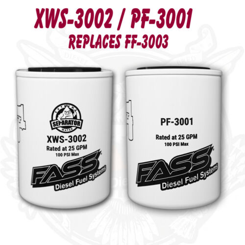 PF-3001Replaces FF-3003 FASS Titanium Series Fuel Filter Package XWS-3002