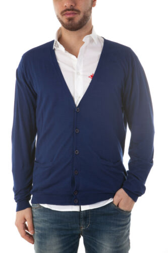 Cardigan Daniele Italy Blu Made Alessandrini Maglia Fm53118a Uomo Sweater In ww5PrFfq