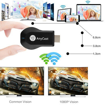AnyCast M2//4 M9 MX18 M100 Plus WiFi Display Receiver Airplay Support Android IOS