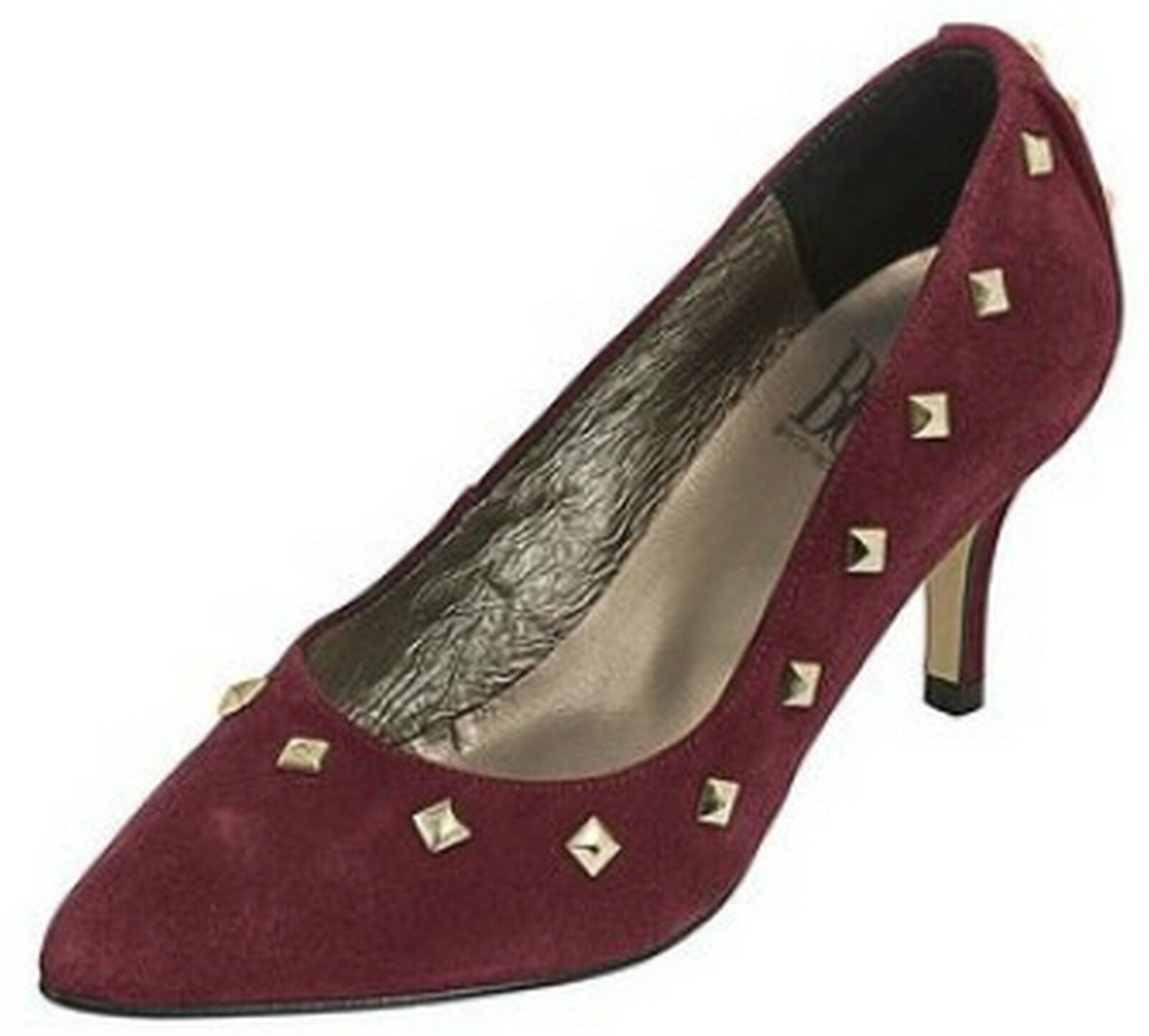 Best Connections BC Pumps LEDER 37 Elegant Bordeaux Rot Spain Schuh Stiletto Neu