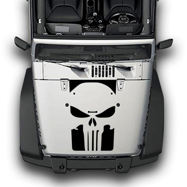 Hydz F/ür Jeep Wrangler tj lj jk Punisher 2 Streifen Vinyl haube Aufkleber Aufkleber LKW b rot