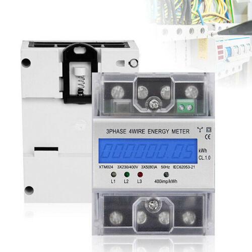 XTM024 Wechselstromzähler 4 Draht DIN Hutschiene Drehstromzähler 5 80 A Home Use