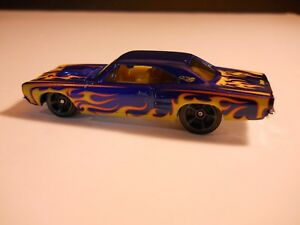 Hot-Wheels-1-64-1969-Dodge-GTX-034-Loose-034-Adult-Own-Nice-1996-Blue-w-Flames