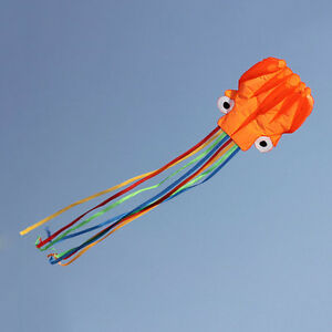 4M-Single-Line-Stunt-Red-Octopus-Power-Sport-Flying-Kite-Outdoor-Activity-Toy-FT