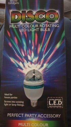 Multi Colour Rotating LED Light Bulb Disco