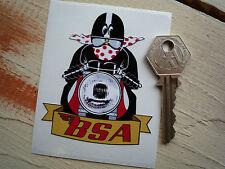 BSA CAFE RACER Pudding Basin Helm MOTORRAD AUFKLEBER Rakete Firebird Lightning