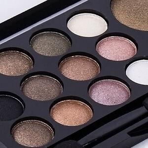 Damen-14-Farbe-Eyeshadow-Lidschatten-Palette-Make-up-Set-Schoenheit-Kosmetik-Moda