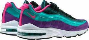 release date 47722 74509 Details about NIKE AIR MAX 95 NOW OUTDOOR GREEN HYPER PINK WHITE BLACK  GRADE SCHOOL 4-7