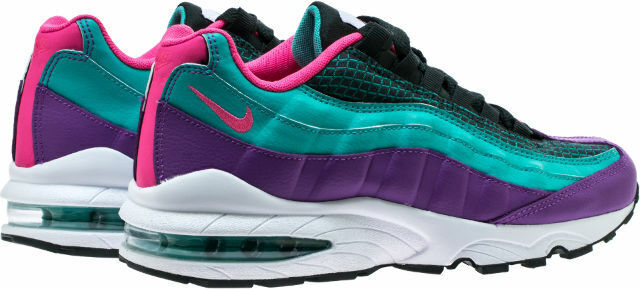 NIKE AIR MAX 95 NOW OUTDOOR GREEN HYPER PINK WHITE BLACK GRADE SCHOOL 4 7