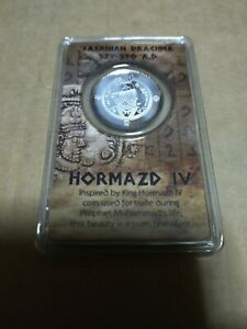 Silver sasanian drachma 999 Silver coin hormazd IV perak nubex
