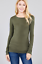 Basic-Long-Sleeve-Solid-Top-Womens-Plain-Cotton-T-Shirt-Stretch-Tight-Crew-Neck thumbnail 13