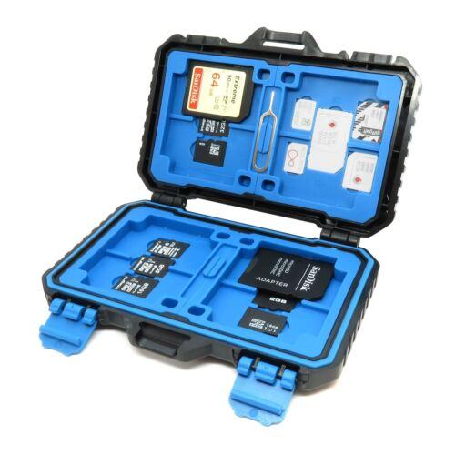 SD Micro SD Tarjeta Sim CF soporte de caja de almacenamiento caja portátil resistente al agua hasta 26