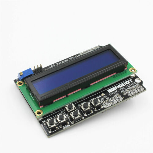 1602 LCD Board Keypad Shield Blue Backlight For Arduino LCD Duemilanove Robot TE