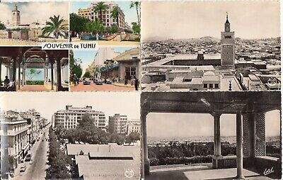 Lot de 4 cartes postales anciennes old postcards 1945-70 TUNISIE TUNISIA TUNIS 2   eBay