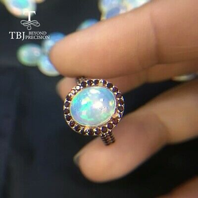 Size 9 Sterling Silver and Genuine Ethiopian Opal Ring New Vintage Wholesale