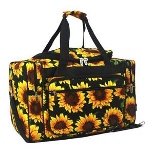 Canvas-20-carry-on-airplane-duffle-gym-overnight-bag-NWT-FREE-SHIP-Sunflower