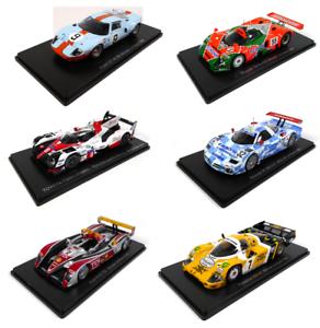 Sammlung-von-6-Modellautos-24h-Le-Mans-1-43-Spark-Miniatur-Auto-Dieacast-LM48