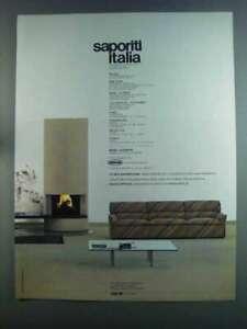 1982 Saporiti Italia Furniture Ad - Queening Sofa
