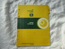 1978 John Deere 60 Skid Steer Loader Parts Catalog Manual