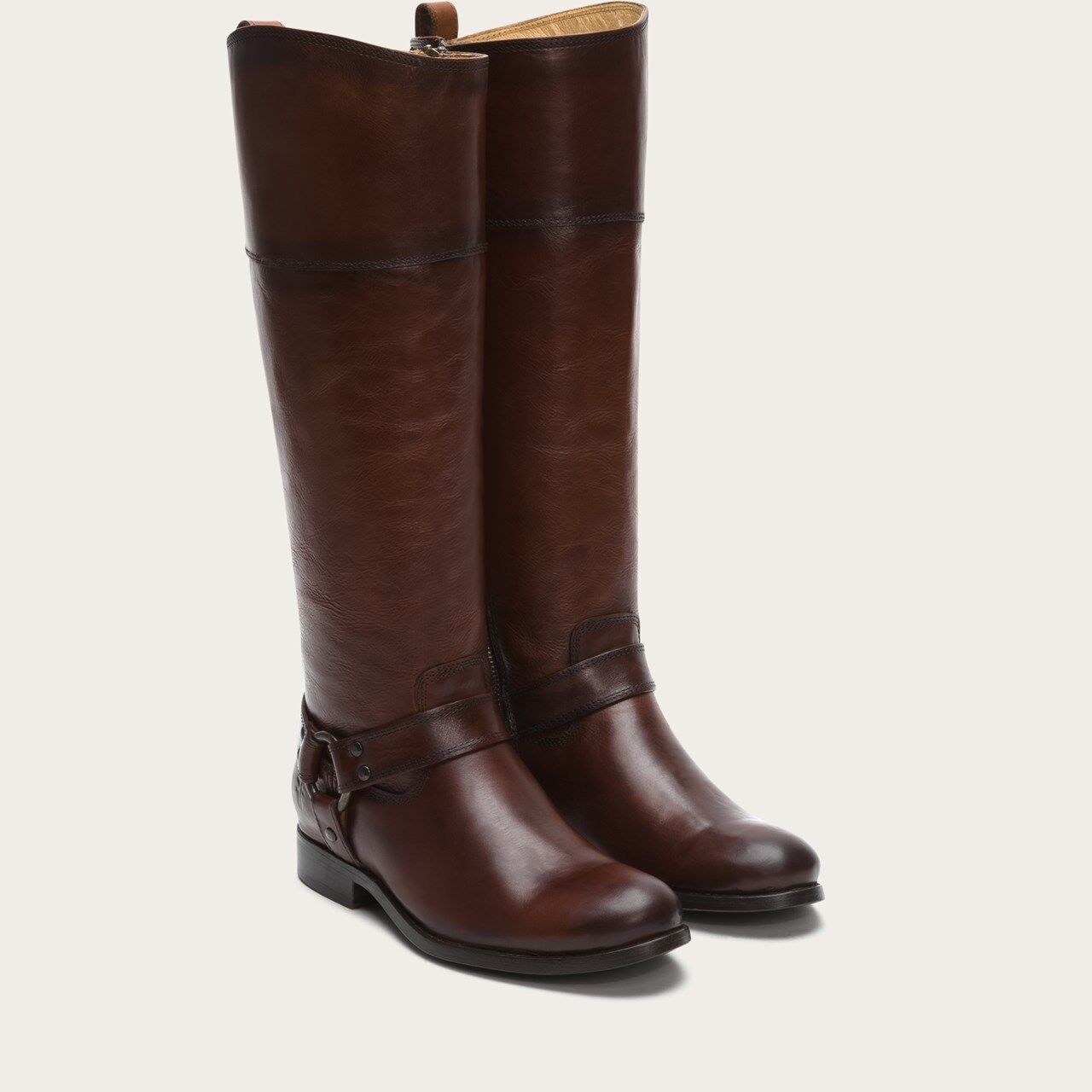 NIB Frye Melissa Melissa Melissa Harness Riding Boots 3476927 Zipper ExtCalf Redwood Womens Sz 7 99d611