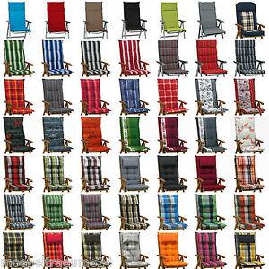 Neu 56 Farben Gartenmöbel Auflagen Kissen Sitzkissen Für Hochlehner