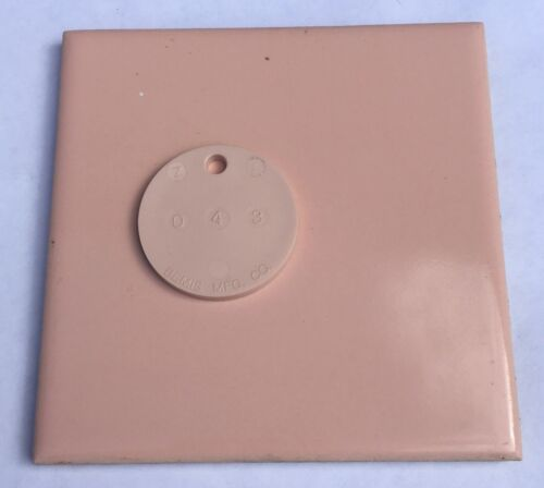 1 Sq Ft Salvaged /'USQTCO Romany/' 4x4 Vintage Tile in Peach//Coral