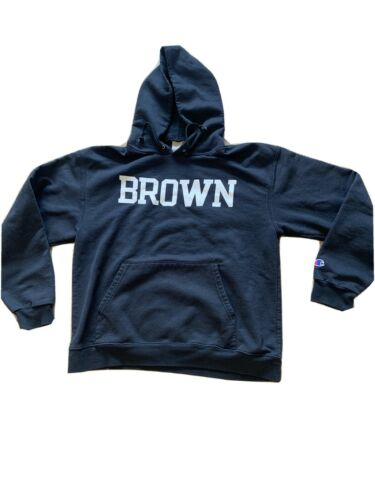 Vintage BROWN UNIVERSITY black Hoodie CHAMPION VIN