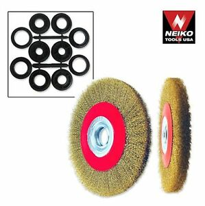 """NEIKO 00328A - 6"""" Crimped Wire Brush Wide Face for Bench & Angle Grinder  [B1-1]"""