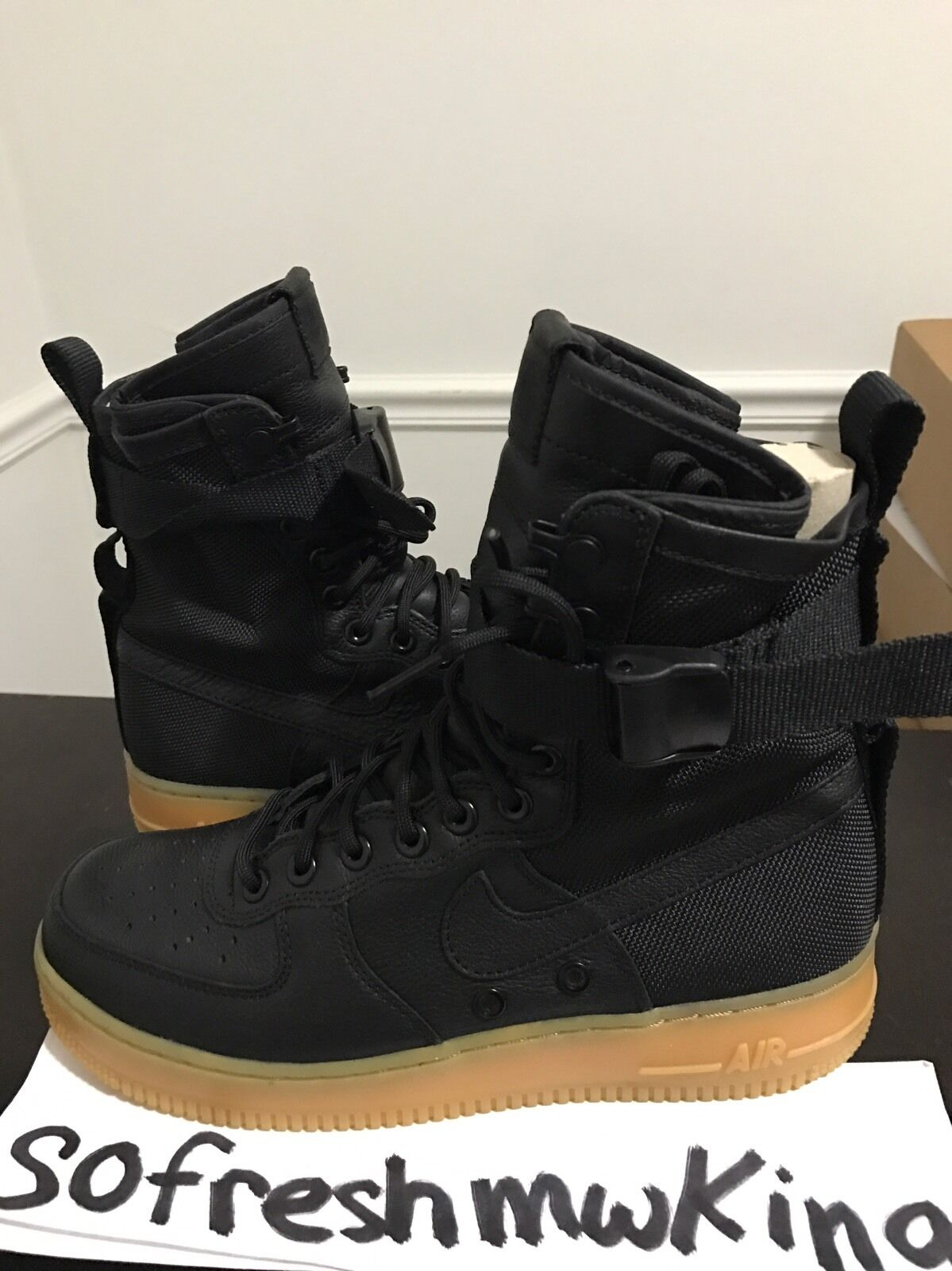 Nike Airforce One Special Field Nero Sz 9 Af1 Sf Af1 9 ! Beige White Olive Bone 1 359820