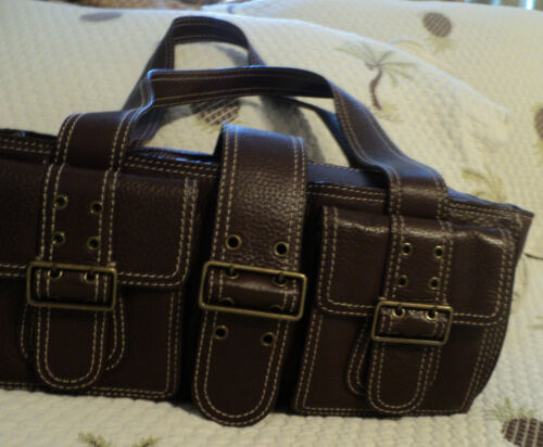 Cynthia Leather Rowley Buckle Cute~2 Purse~euc~13