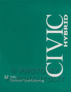 image is loading new-2009-honda-civic-hybrid-electrical -troubleshooting-manual-