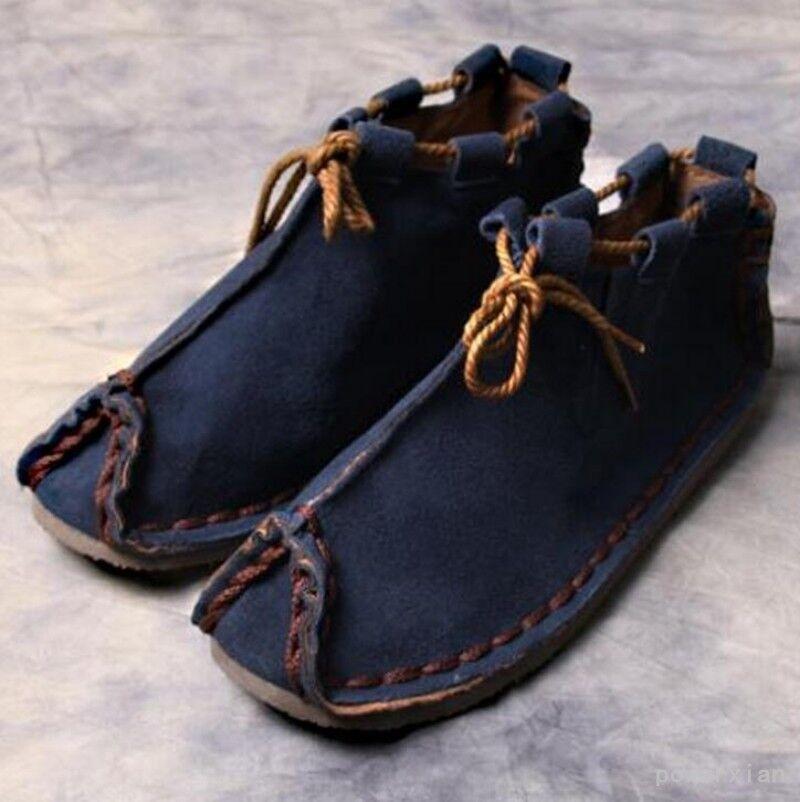 Mens Retro High Top Casual shoes Japanese Lace Up Suede Soft Falt hOT Pump 39-44