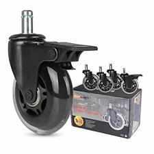 Office Chair Caster Wheels Set Of 5 Heavy Duty 3 Replacement Hardwood Floor
