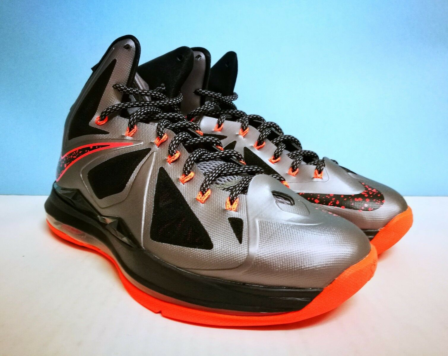 Nike Lebron X (10) 9 ++ LAVA ++ sz 9 (10) US 42.5 Jordan kobe kd Adidas 5e6658