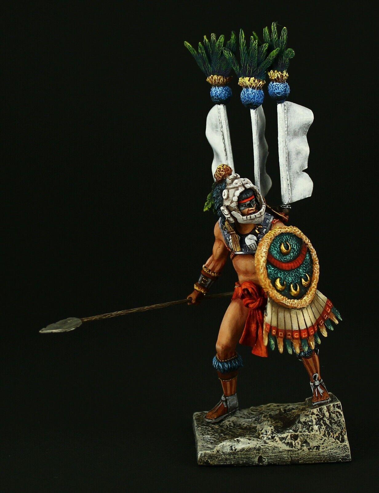 Soldados de estaño, Museo, guerreros de Tlaxcala, 1520, 75 mm.Nuevo Mundo