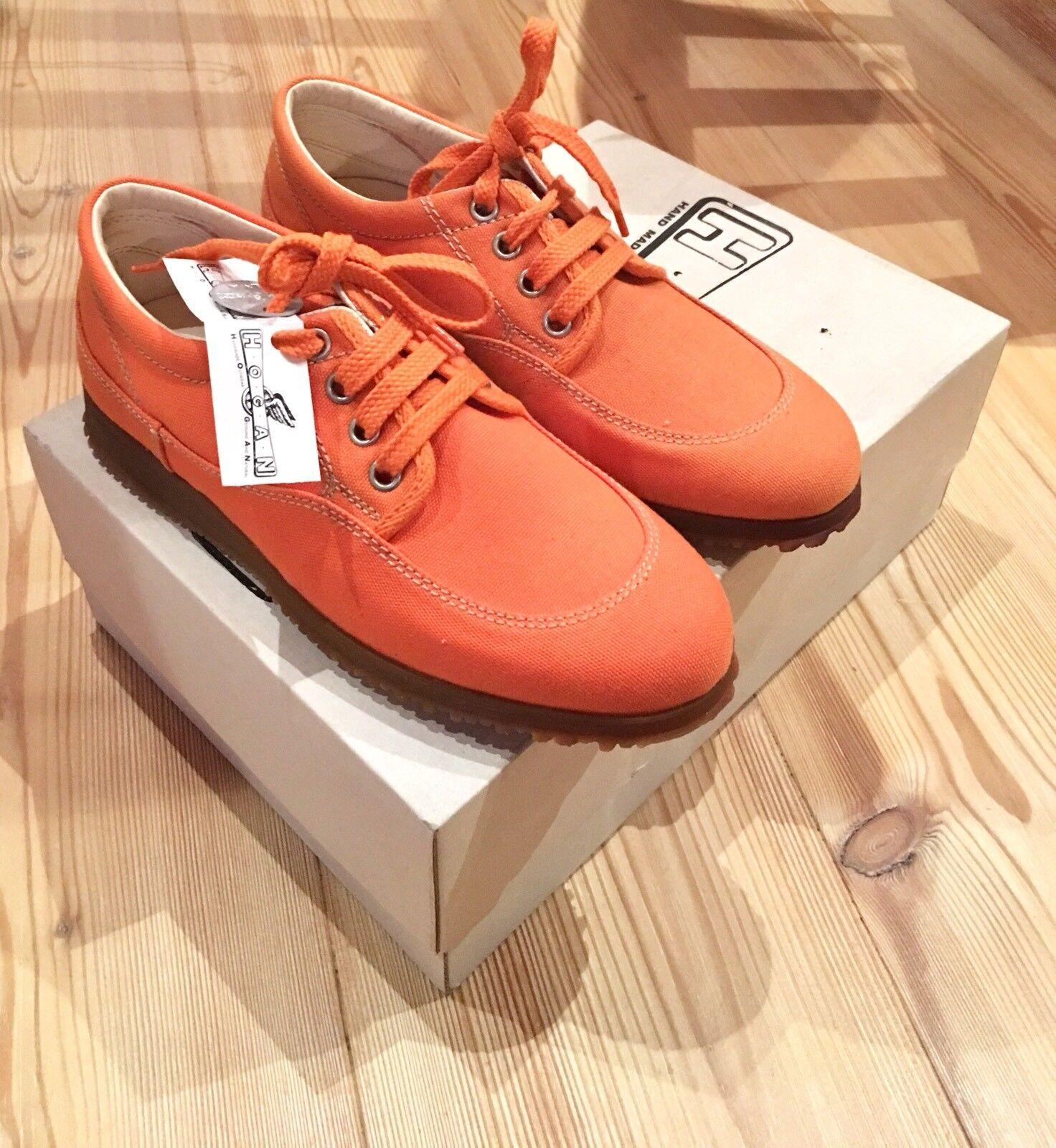 scarpe hogan donna tela arancione n. 35. nuove