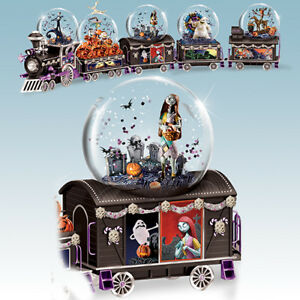 image is loading spooky graveyard sally train water globe snow dome