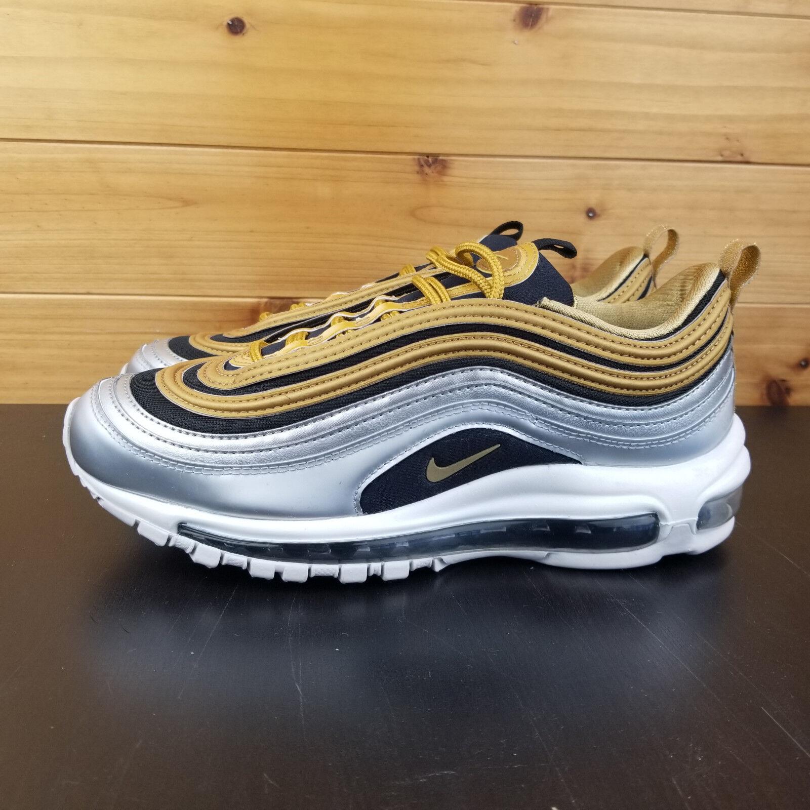 Nike Air MAx 97 SE gold Metallic Silver Women's shoes Sz 8.5 AQ4137 700