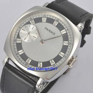 Retro-Parnis-44mm-Men-039-s-Hand-Winding-6497-Movement-Watch-Arabic-Numerals
