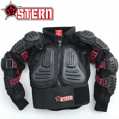 Kids Stern Motocross MX Body Armour Suit quad bike Jacket Pink