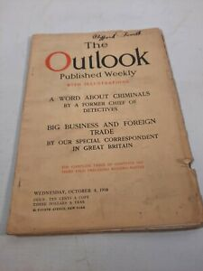 Octobet 4 1916 the Outlook Magazine  vintage advertising