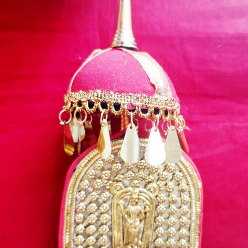 Traditional Kerala Nettipattam Elephant Caparison Craft Wall Hanging Gold Decor