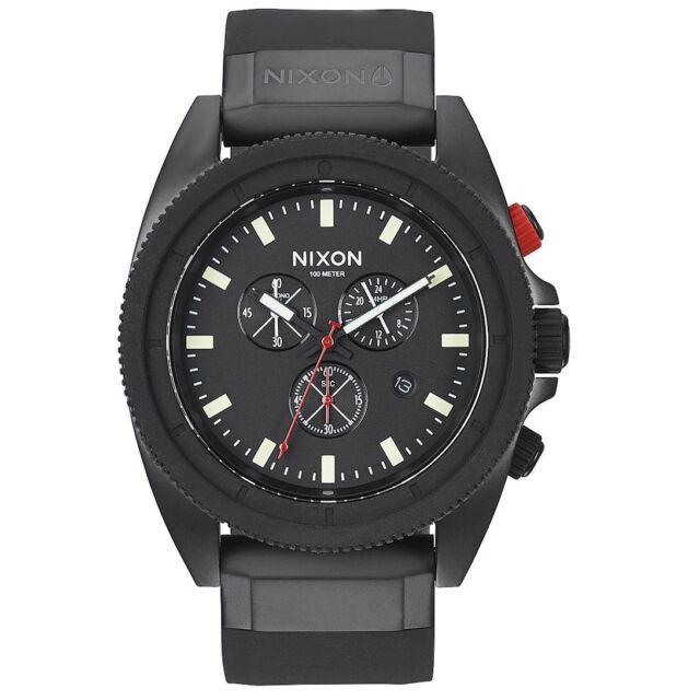 Nixon A290760 Rover Chrono All Black Mens Analog Watch