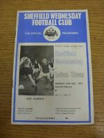 27/12/1971 Sheffield Wednesday v Luton Town  (Folded, Stained)