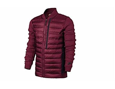 Nike Tech Fleece Aeroloft Bomber Men S Jacket Team Red Team Red Black Sz S Ebay