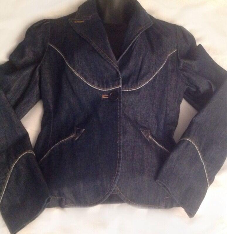 NWOT  Marc Jacobs Dark Wash bluee Denim Blazer Size 8