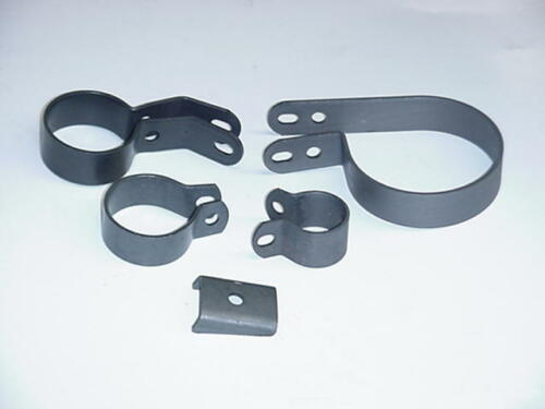 New 1941-1948 UL  Harley Muffler Exhaust Clamp Set PARKERIZED